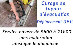 Curage de tuyaux par plombier du 75002