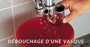Le débouchage de vasque