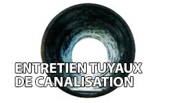 entretien tuyaux de canalisation