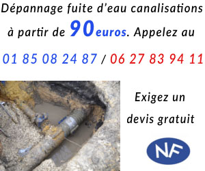 Réparation fuite canalisation par plombier Paris 15