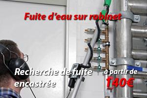 Recherche de fuite d'eau Paris 6 disponible 24h/24 et 7j/7 sur la ville et ses environs