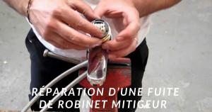 La réparation d'un robinet mitigeur qui fuit