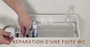 Réparation d'une fuite WC