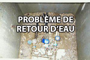 douille de purge - problème de retour d'eau