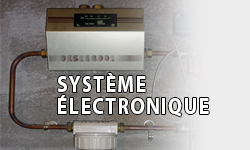 système électronique de filtre anti-calcaire
