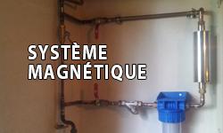 système magnétique de filtre anti-calcaire
