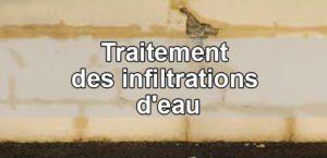 Traitement rapide des infiltrations d'eau