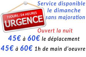 Serivce disponible de nuit comme de jour sur le 75008