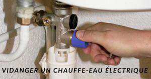 Vidanger son chauffe-eau électrique